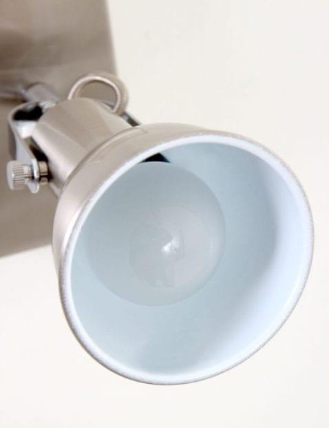 éénlichts wandlamp staal