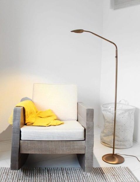 Bronskleurige leeslamp