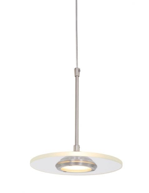 Moderne LED hanglamp Steinhauer Roundy staal ⌀18 cm