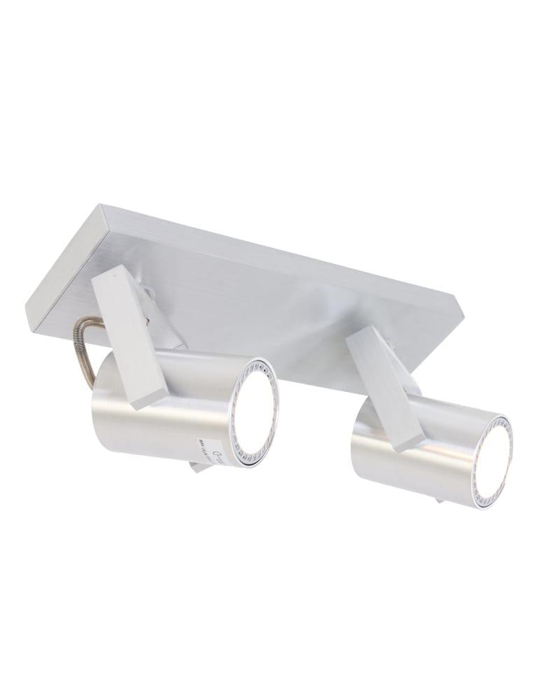 Afbeelding van 2-lichts plafondspot Steinhauer Tweeklite LED staal