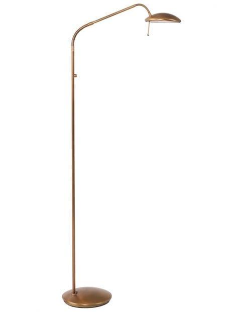 Bronskleurige vloerlamp