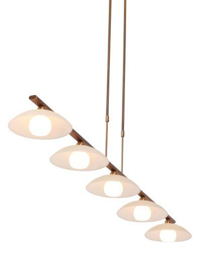 5 licht bronskleurige hanlgamp