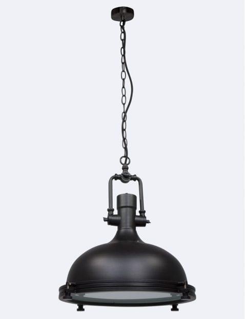 stoere zwarte hanglamp