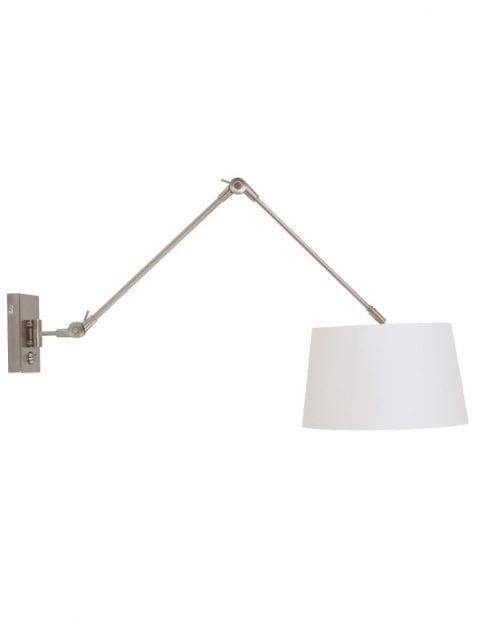 Witte praktische wandlamp
