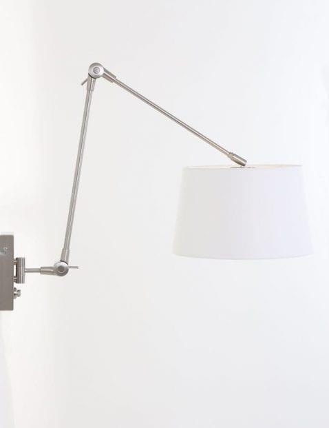 Verstelbare wandlamp wit