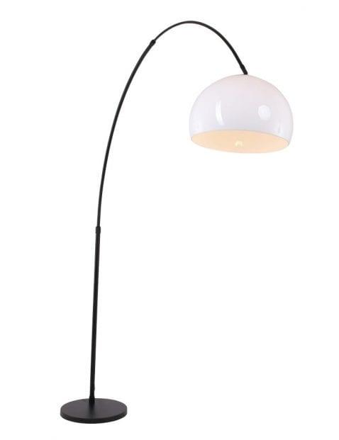 staande lamp met glazen kap