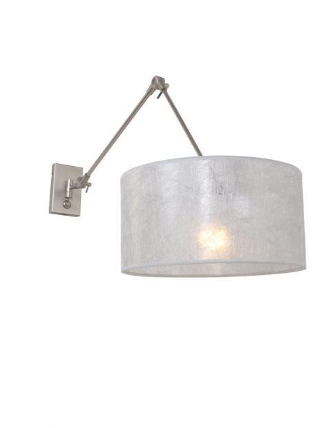Verstelbare wandlamp Steinhauer Gramineus staal/zilver