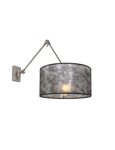 Wandlamp met zwenkarm Steinhauer Gramineus staal