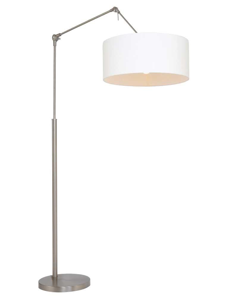 Witte Staande Lamp.Moderne Staande Lamp Steinhauer Gramineus Staal Wit