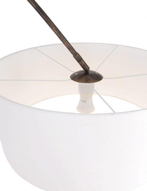 Bruinkleurige booglamp witte kap