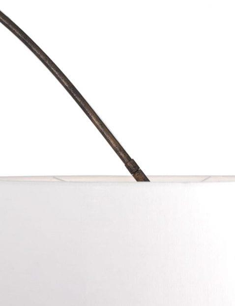 Bruine booglamp witte kap