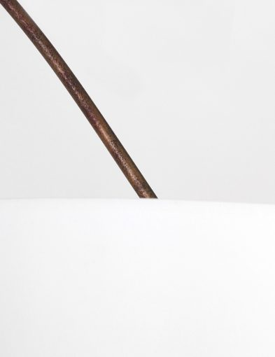 Bruin armatuur witte kap