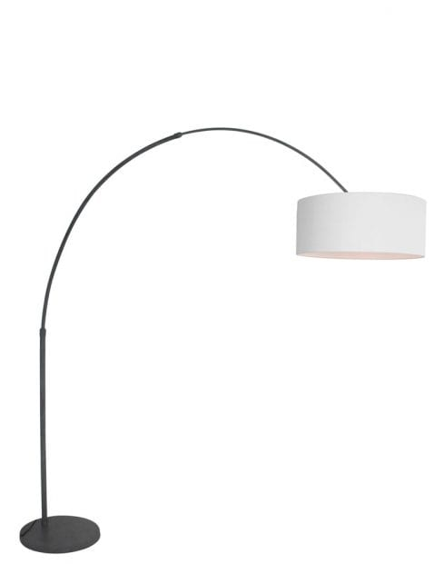 Witte boog vloerlamp