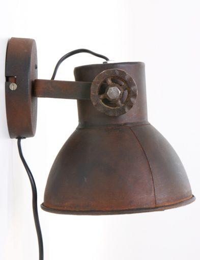Bruine-robuuste-vintage-muurlamp-wandlamp-stoer
