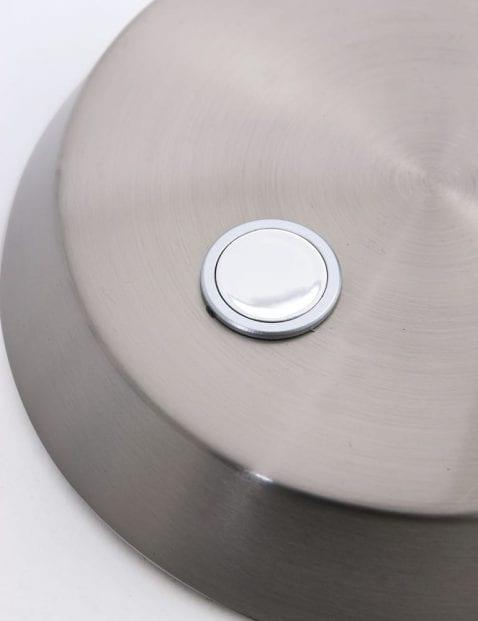 Bureaulamp staalkleurig