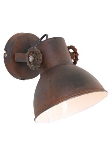 Donkerbruine-wandlamp-kantelbare-grote-scharnieren