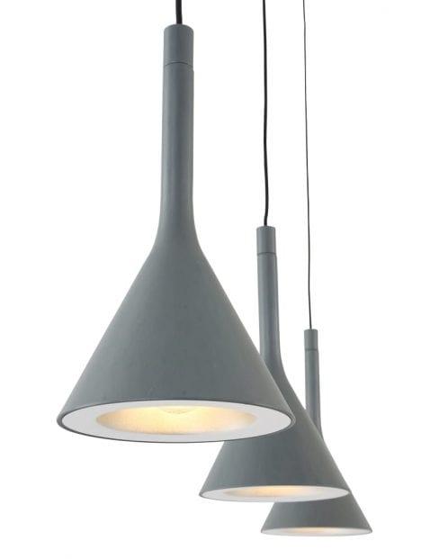 Drielichts-trechter-hanglamp