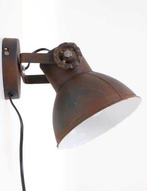 Industrielamp-muurlamp-verstelbaar-scharnieren-bruin