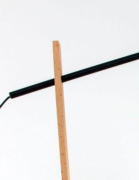 La Forma Izar zwarte tafellamp met hout