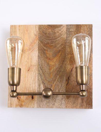 Muurlamp-hout-brons