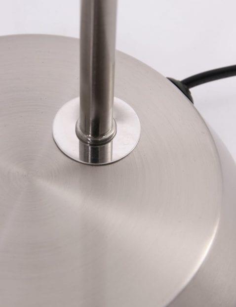 Staalkleurige bureaulamp