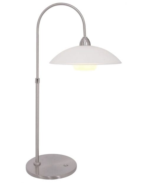 Staalkleurige tafellamp