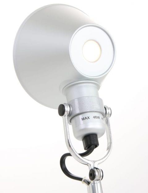 Tafellamp-Artemide-Tolomeo-staal-kapjet