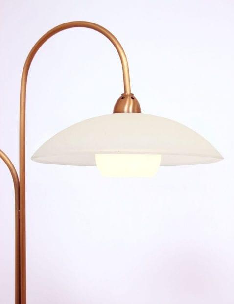 Tafellamp tweelichts bronskleurig