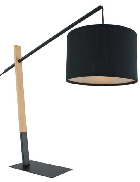 Zwarte-hengel-tafellamp-hout