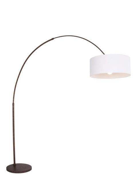 booglamp-bruin-witte-lampenkap