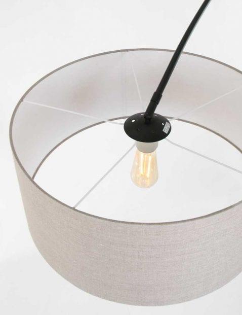 booglamp met bruine kap