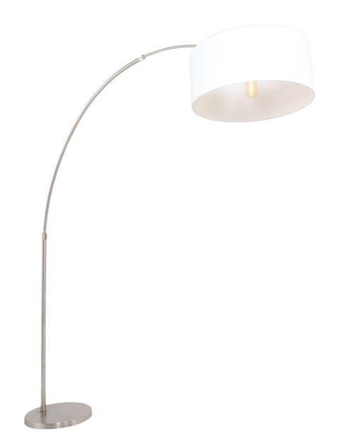 booglamp-modern-met-witte-lampenkap