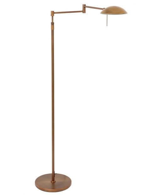 Bronzen klassieke LED leeslamp Steinhauer Retina