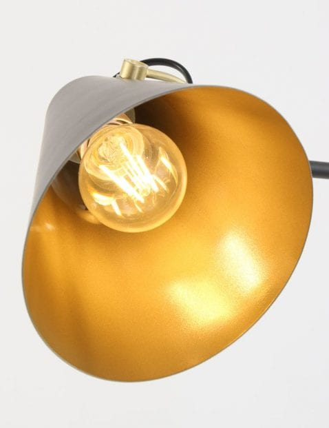 gouden kap verstelbare vloerlamp