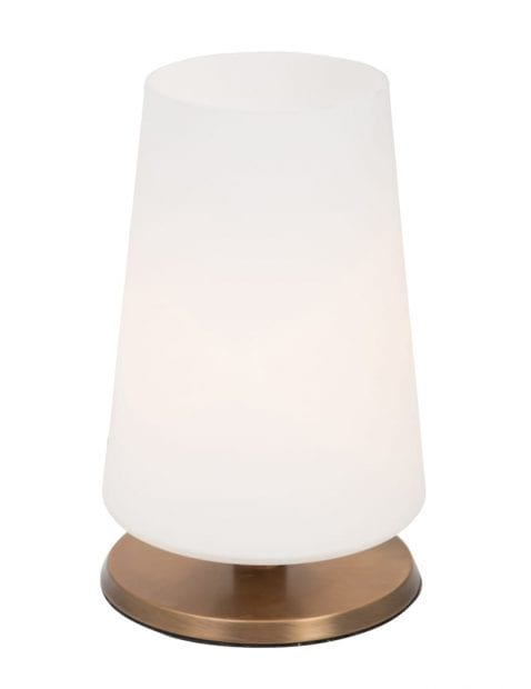 Bronzen touch tafellamp Steinhauer Ancilla