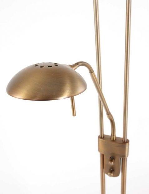 leeslamp bronzen vloerlamp