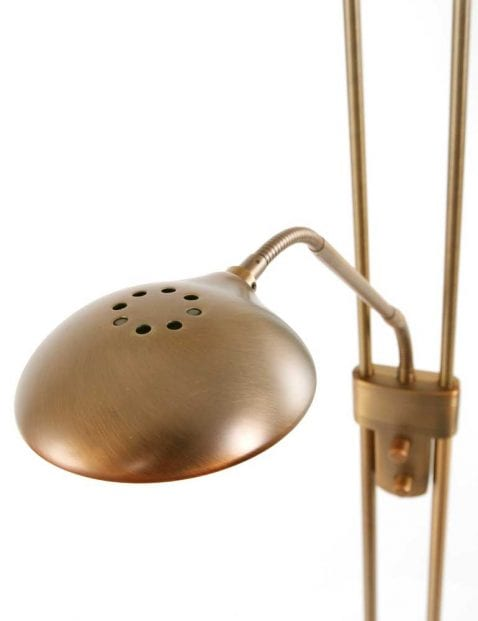 leeslamp van bronzen vloerlamp