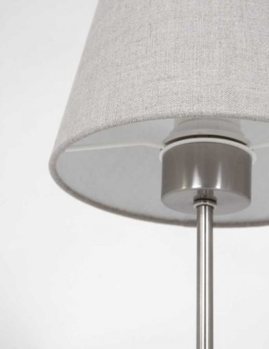 moderne stalen tafellamp