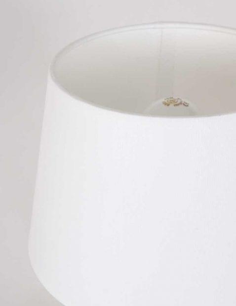 moderne tafellamp met witte kap