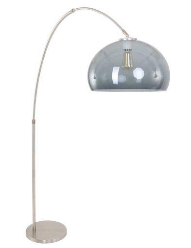 stalen booglamp met glazen kap