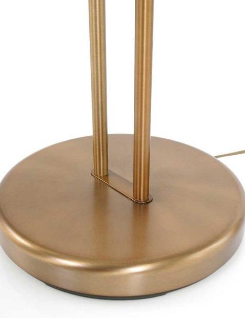 voetplaat bronzen vloerlamp met leeslamp