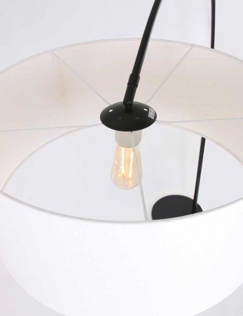 witte kap booglamp
