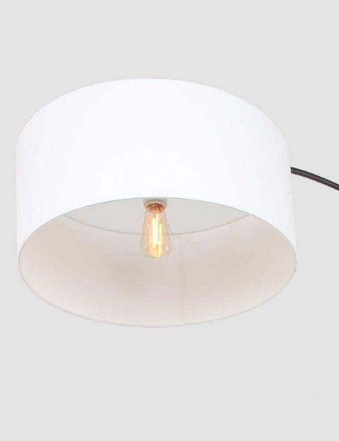 witte kap vloerlamp