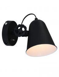 Dolphin-wandlamp-zwart