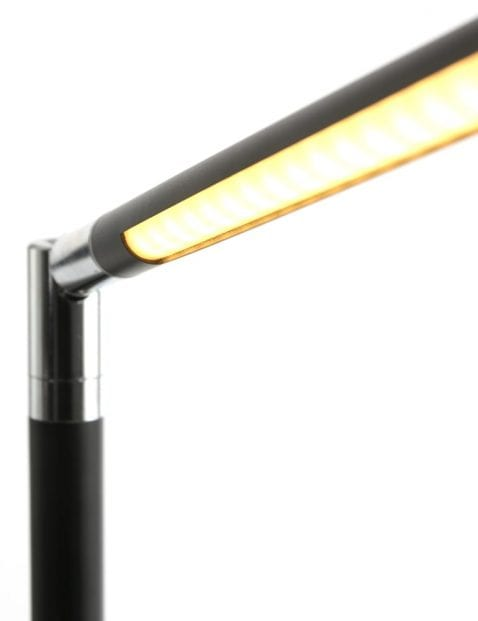 Dimbare vloerlamp zwart