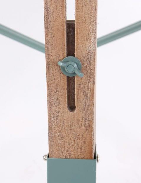 Scandinavische verstelbare vloerlamp hout