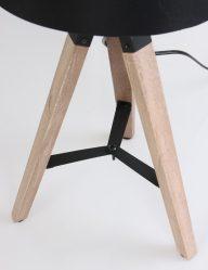 Houten armatuur driepoot tafellamp