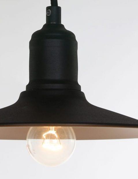 Stoere zwarte lamp