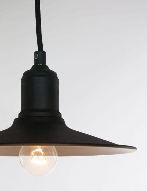 industriele hanglamp met kleine kap