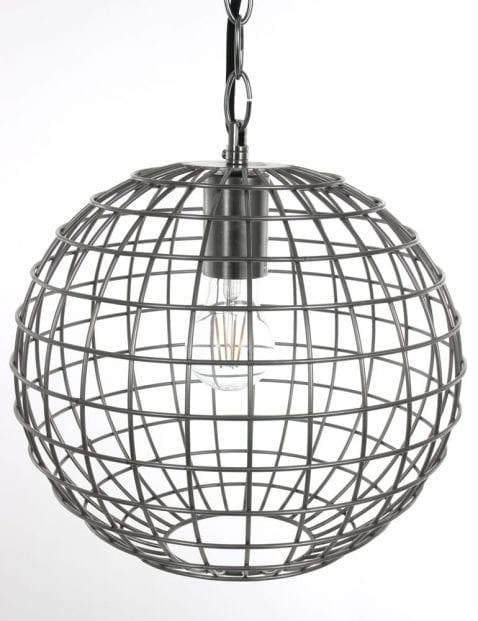 Iron ronde draadlamp